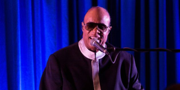 NEW ORLEANS, LA - DECEMBER 01: Stevie Wonder performs at a fundraiser for Senator Mary Landrieu at the...