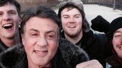 Sylvester Stallone: une selfie au sommet des marches de