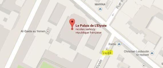 Google Maps: l'Elysée à côté d'Al-Qaïda Yemen sur la carte, pas de piratage mais une erreur de