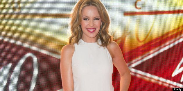 NEW YORK, NY - JUNE 17: Singer Kylie Minogue attends The 40/40 Club 10 Year Anniversary Party at 40 /...