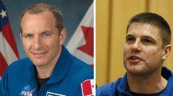 Deux astronautes canadiens en mission dans la Station spatiale