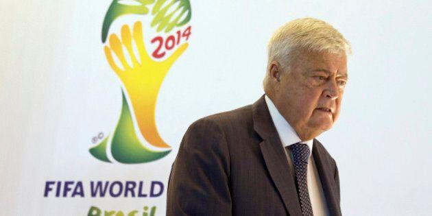 RIO DE JANEIRO, BRAZIL - DECEMBER 01: Ricardo Teixeira, President of CBF, talks to the press during a...