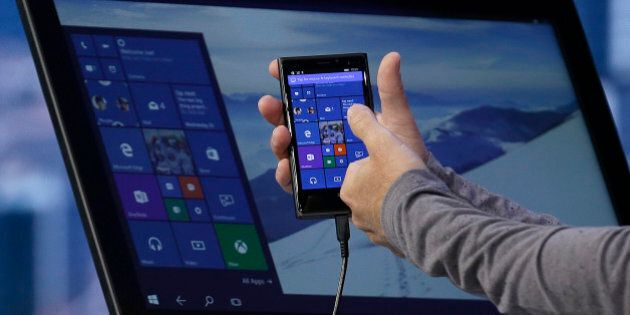 Joe Belfiore, Microsoft Corporate Vice President of Operating Systems Group, demonstrates Continuum for...