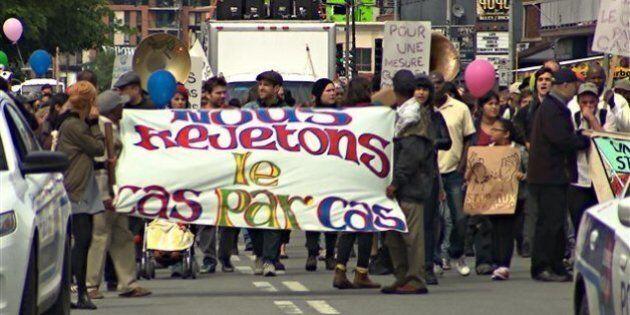 Manifestation contre la déportation d'immigrants à quelques heures de la fin du