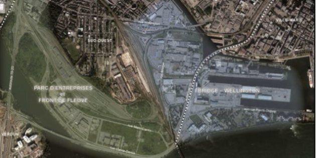 Un parc pour piétons et cyclistes entre les ponts Champlain et