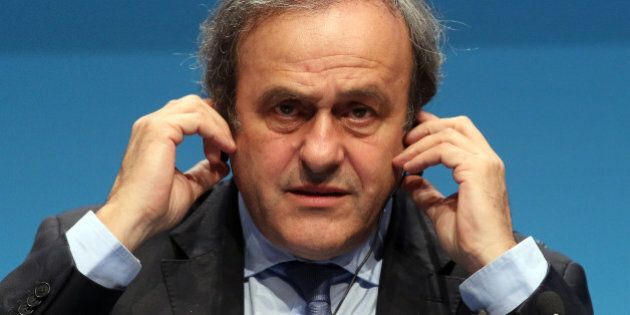 UEFA President Michel Platini speaks during a news conference at the end of the 39th Ordinary UEFA Congress...