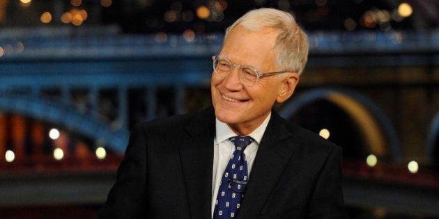 NEW YORK - MAY 20: David Letterman hosts his final broadcast of the Late Show with David Letterman, Wednesday May 20, 2015 on the CBS Television Network. After 33 years in late night television, 6,028 broadcasts, nearly 20,000 total guest appearances, 16 Emmy Awards and more than 4,600 career Top Ten Lists, David Letterman says goodbye to late night television audiences. The show was taped Wednesday at the Ed Sullivan Theater in New York.  (Photo by Jeffrey R. Staab/CBS via Getty Images)