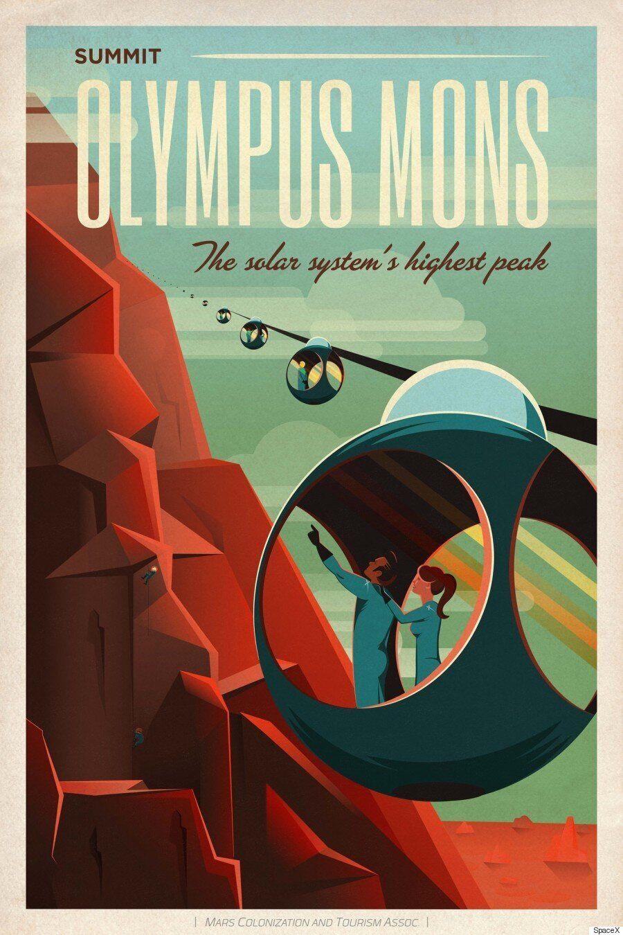 Trois affiches publiées par SpaceX pour promouvoir le tourisme... sur