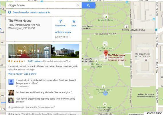 Tapez «Nigga house» dans Google Maps et tombez sur la Maison