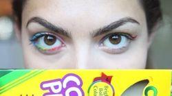 Maquillage au crayon de couleur: la mauvaise idée des ados