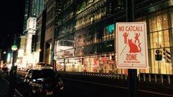 Des panneaux anti-harcèlement dans les rues de New