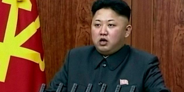 In this image taken from video made available on Wednesday, Jan. 1, 2014, North Korean leader Kim Jong...