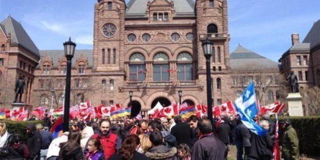 Rassemblement à Toronto pour commémorer les 100 ans du génocide