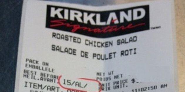 Listeria: rappel de salades de poulet rôti Kirkland Signature chez