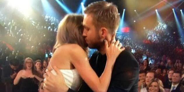 Taylor Swift et Calvin Harris s'embrassent aux Billboard Music
