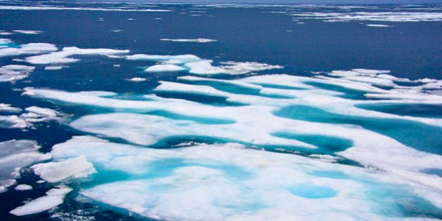 Sea Ice, Northwest Passage, Nunavut, Arctic Canada. (Photo by Education Images/UIG via Getty