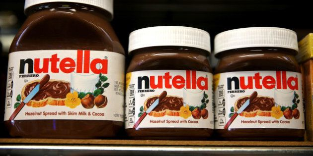 SAN FRANCISCO, CA - AUGUST 18: Jars of Nutella are displayed on a shelf at a market on August 18, 2014...