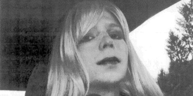 FILE - In this undated file photo provided by the U.S. Army, Pfc. Chelsea Manning poses for a photo wearing...