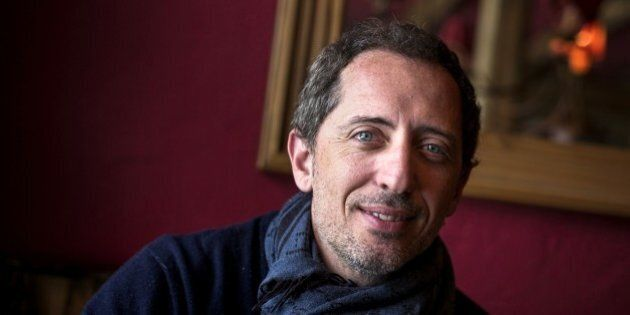 French humorist, actor and president of the festival's jury Gad Elmaleh poses on January 16, 2015 during...