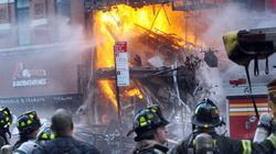16 blessés à Manhattan dans l'effondrement d'un immeuble suivi d'un