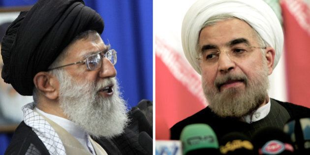 A combo of recent file pictures shows Iran's supreme leader Ayatollah Ali Khamenei (L) addressing the...