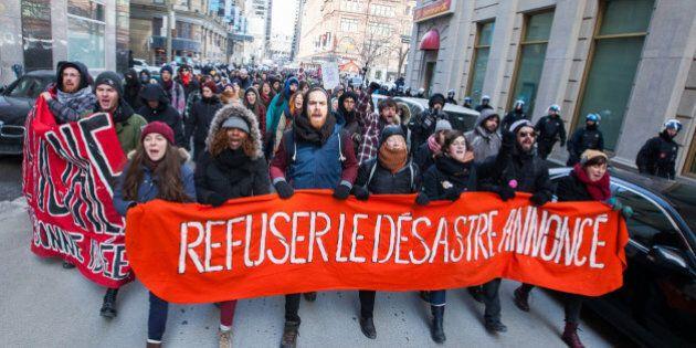 Manifestants sous surveillance à
