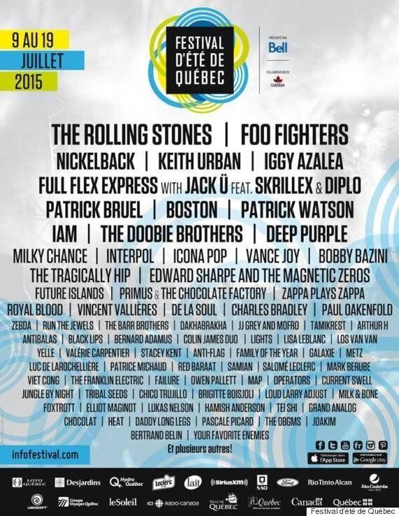 Festival d'été de Québec 2015: programmation dévoilée