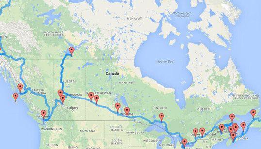 Voici le roadtrip canadien