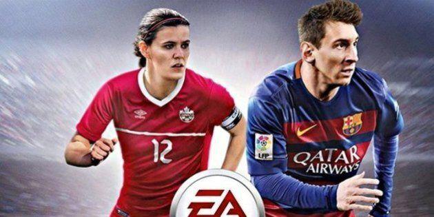 Christine Sinclair aux côtés de Lionel Messi sur FIFA