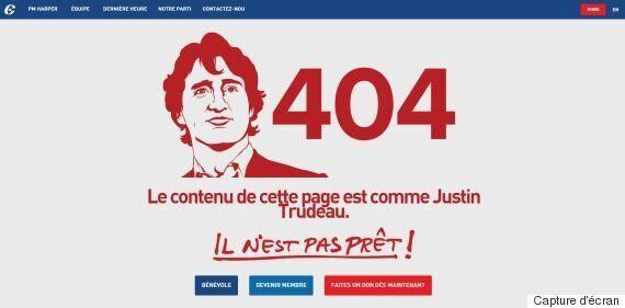 Page erreur 404 : les conservateurs se moquent (encore) de Justin