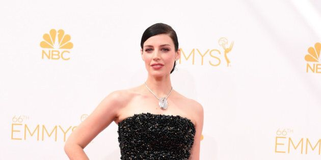 LOS ANGELES, CA - AUGUST 25: Actress Jessica Paré attends the 66th Annual Primetime Emmy Awards held...