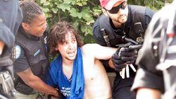 Harper en campagne à Montréal, un manifestant arrêté
