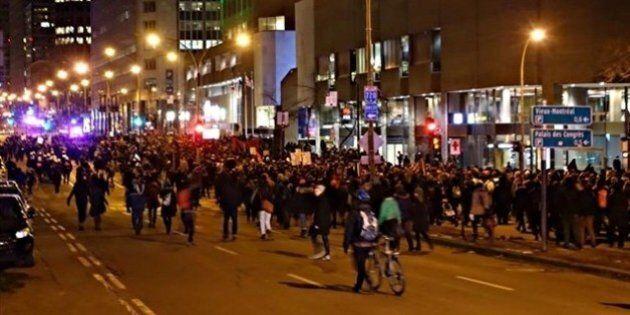 Manifestation nocturne mouvementée à