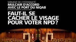 Niqab: la publicité du Bloc Québécois