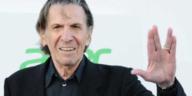 HOLLYWOOD, CA - MAY 14: Actor Leonard Nimoy attends the premiere of 'Star Trek Into Darkness' at Dolby...
