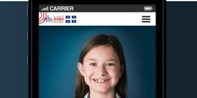 Disparitions d'enfants: les Québécois sont invités à télécharger l'application Alerte Amber