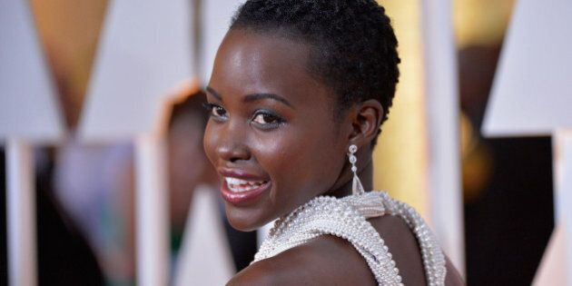 HOLLYWOOD, CA - FEBRUARY 22:  Actress Lupita Nyong'o arrives in Chopard to the 87th Annual Academy Awards at Hollywood & Highland Center on February 22, 2015 in Hollywood, California.  (Photo by Michael Buckner/WireImage)