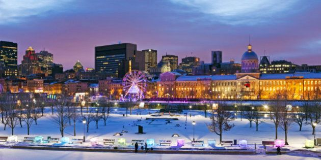 Canada, Quebec province, Montreal, the Old Port, High Lights Festival, in the background the city and...