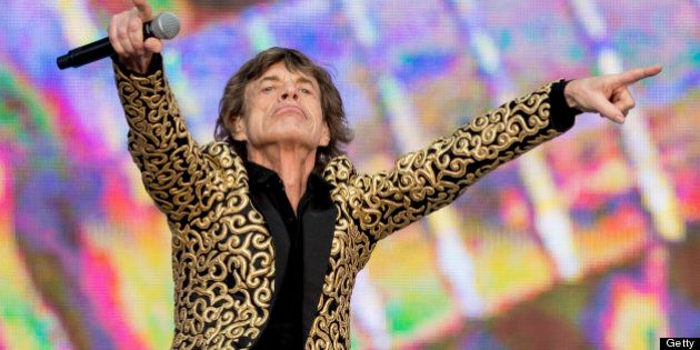 LONDON, UNITED KINGDOM - JULY 06: Mick Jagger of The Rolling Stones performs at day 2 of British Summer...
