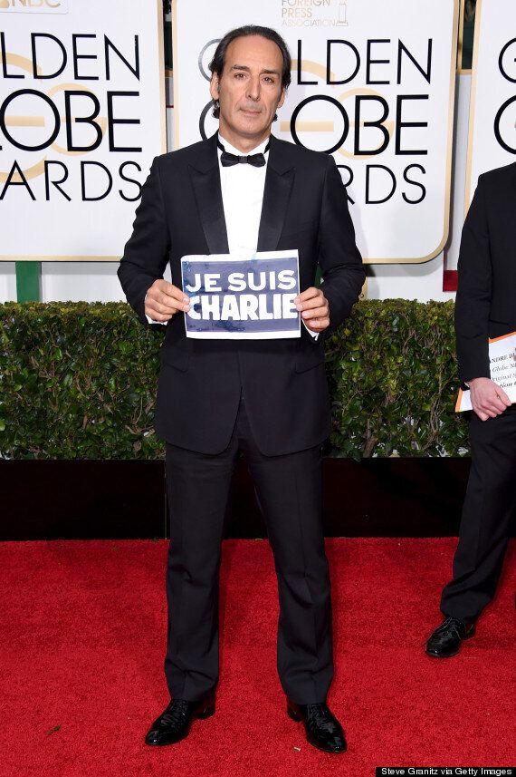 Golden Globes 2015: Les célébrités affichent leur soutien à Charlie
