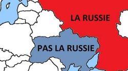 Chers soldats russes, voici où se trouve la frontière - Signé, le