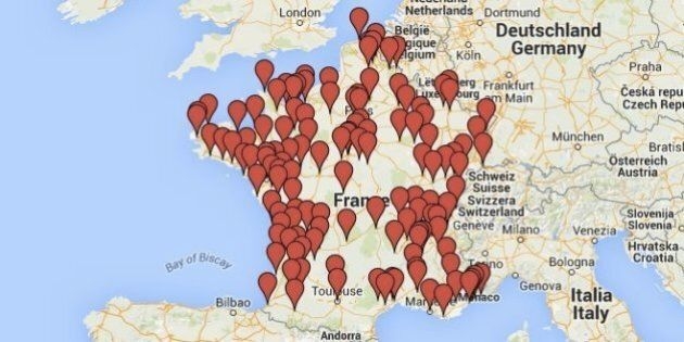 Rassemblements pour Charlie Hebdo: la carte des manifestations de soutien samedi 10 et dimanche 11