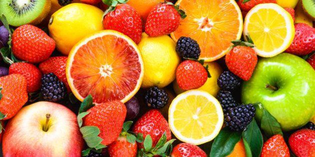 mix fruits background.fresh...