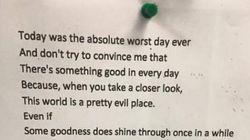 Voyez pourquoi ce mystérieux poème fait le