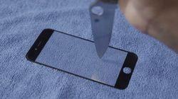 iPhone 6: Rayer l'écran avec un couteau de chasse? Impossible!