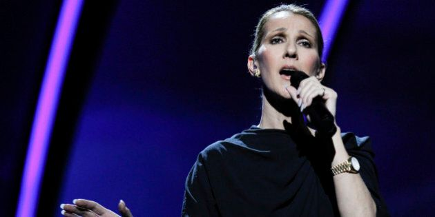 Singer, Céline Dion rehearses at the Kodak Theatre in the Hollywood section of Los Angeles, Friday, Feb....