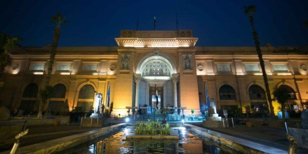 CAIRO, EGYPT - DECEMBER 08: Entrance of the Egyptian Museum is seen before Egyptian Antiquities and Heritage...