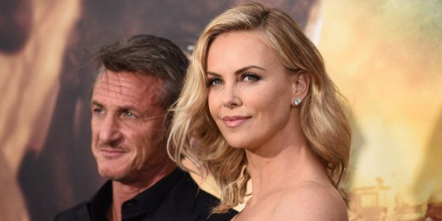 Sean Penn and Charlize Theron arrive at the Los Angeles premiere