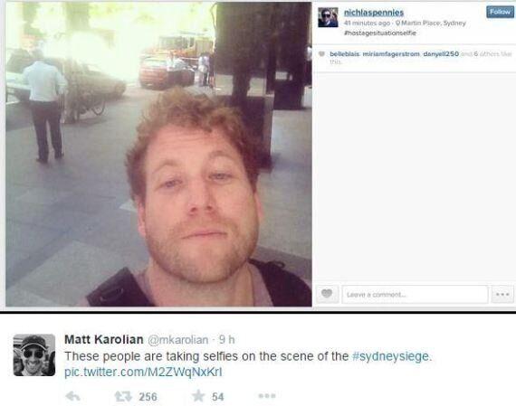 Sydney: des passants prennent des selfies devant la prise d'otages