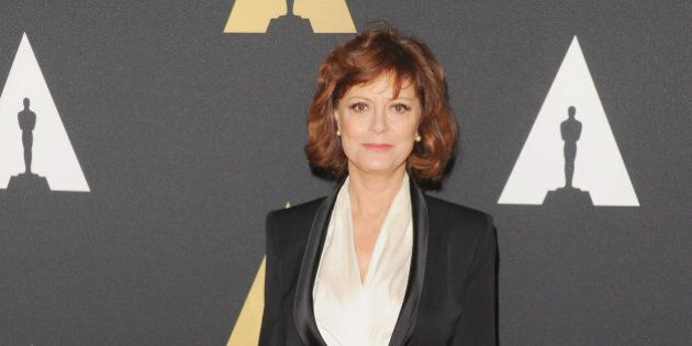 HOLLYWOOD, CA - NOVEMBER 08: Actress Susan Sarandon arrives at the Academy Of Motion Picture Arts And...